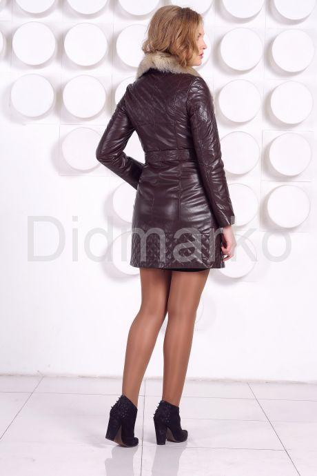 Кожаное пальто коричневого цвета. Фото 8.