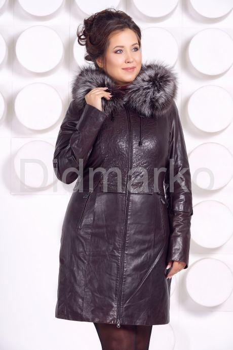 Кожаное пальто с подстежкой шоколадного цвета. Фото 2.