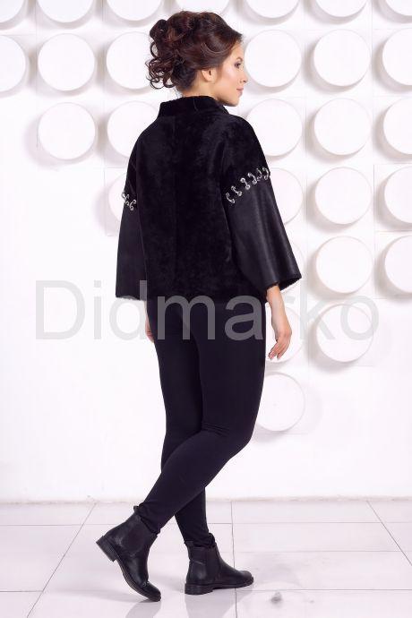 Комбинированная женская дубленка. Фото 4.