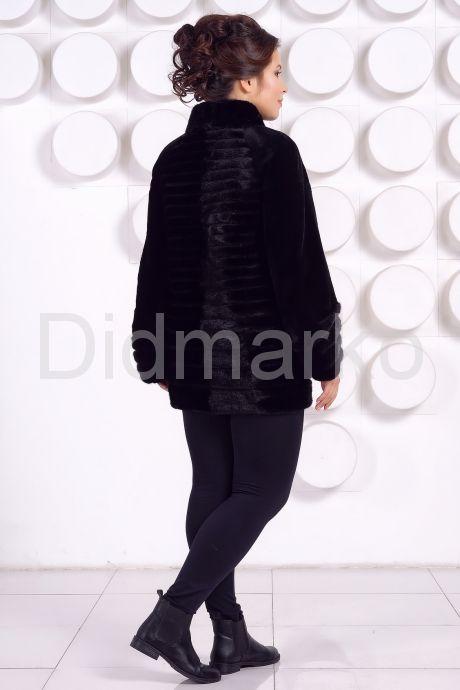 Красивая шуба черного цвета. Фото 4.