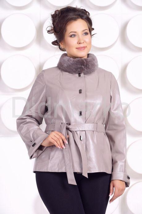 Кожаная куртка бежевого цвета. Фото 3.