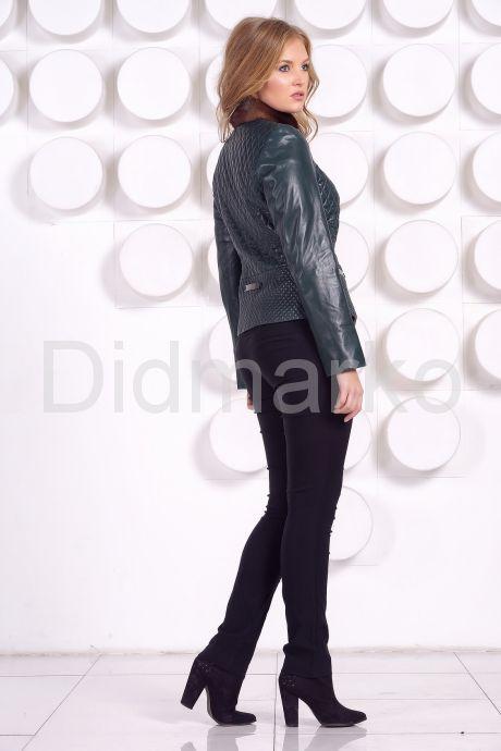 Кожаный пиджак с мехом норки. Фото 7.