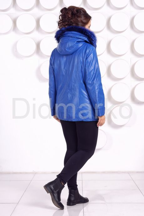 Демисезонная кожаная куртка больших размеров DM