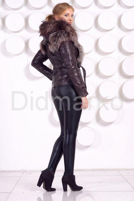 Молодежная куртка-жилетка шоколадного цвета. Фото 10.