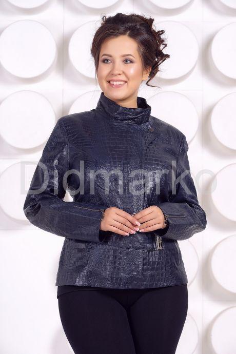 Кожаная куртка большого размера LARA. Фото 3.