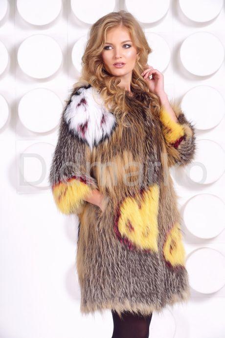 Эксклюзивная шубка из вязаной лисы. Фото 1.