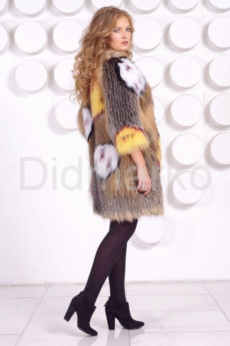 Эксклюзивная шубка из вязаной лисы. Фото 4.