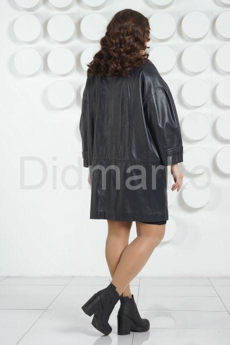 Кожаный плащ больших размеров DONNA BONITA. Фото 4.