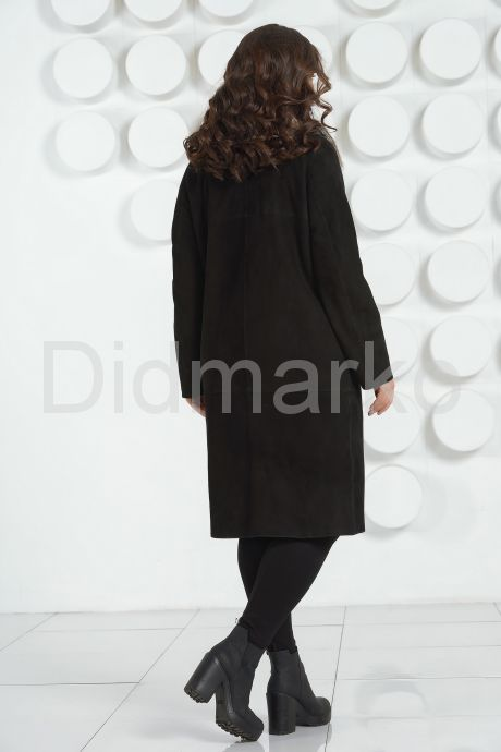 """Женская дубленка в стиле """" Оверсайз """" с накладными карманами. Фото 8."""