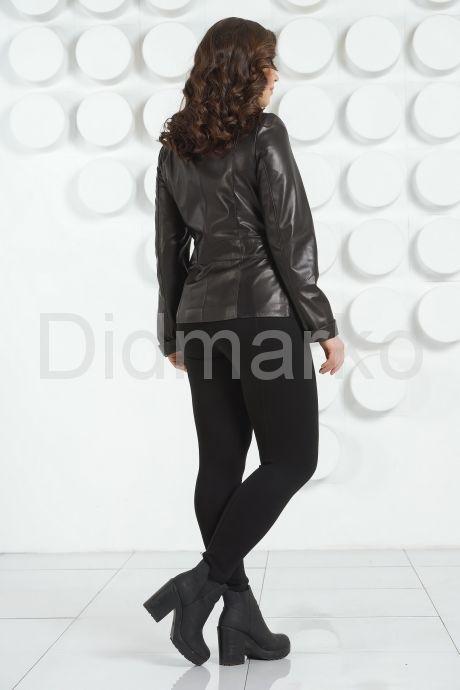 Черная кожаная куртка пиджак. Фото 4.