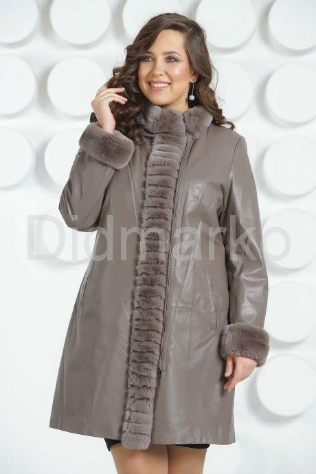 Кожаное пальто больших размеров. Фото 2.