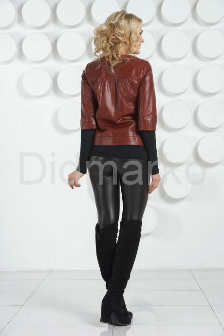 Модный кожаная куртка. Фото 4.