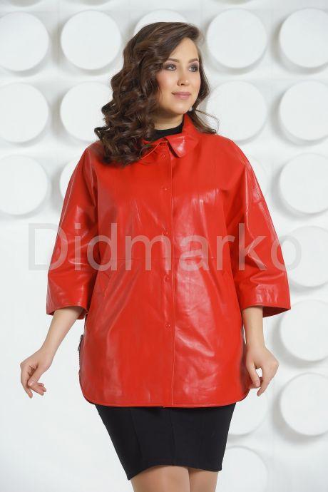 Кожаная куртка большого размера. Фото 3.