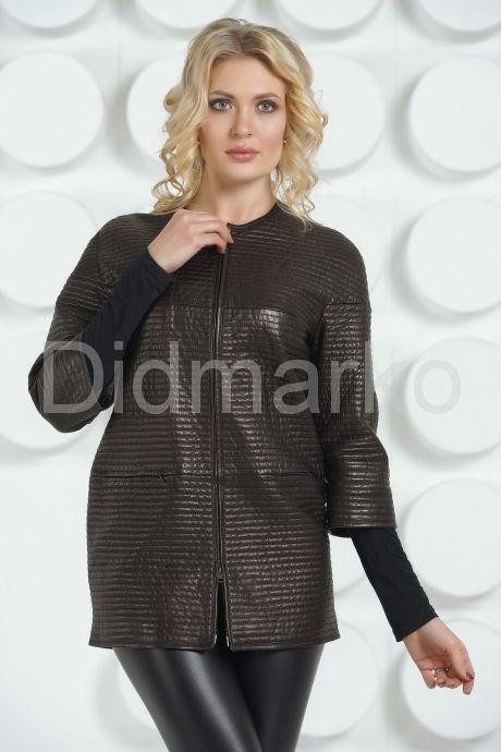 Удлиненная кожаная куртка Шанель. Фото 2.