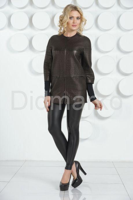 Удлиненная кожаная куртка Шанель. Фото 4.