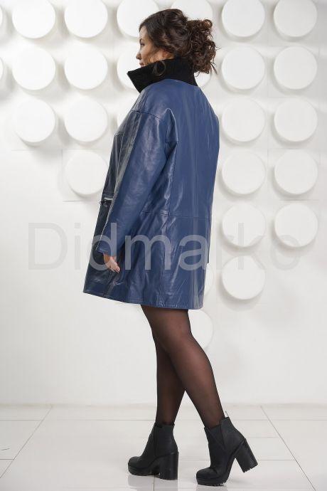 Удлиненная кожаная куртка больших размеров. Фото 4.
