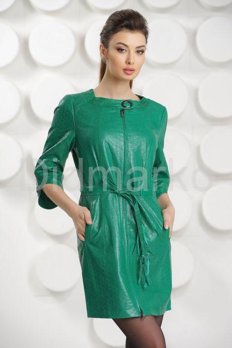 Модный перфорированный кожаный плащ. Фото 2.