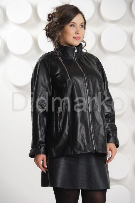 Классическая кожаная куртка больших размеров. Фото 3.