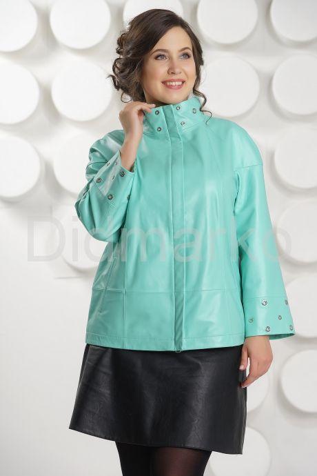 Нежная кожаная куртка больших размеров. Фото 2.