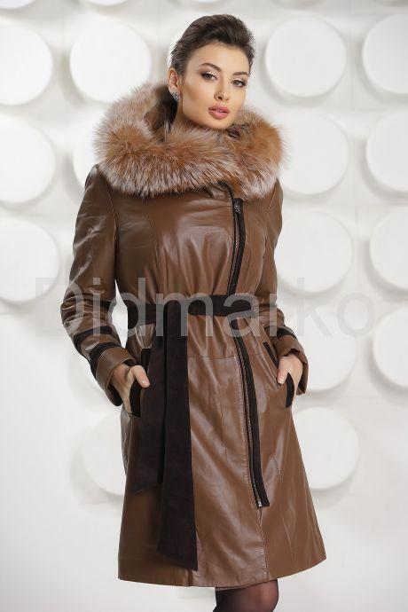 Кожаное пальто с подстежкой. Фото 3.