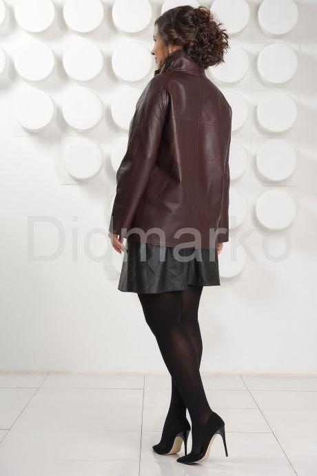 Короткая трапециевидная кожаная куртка. Фото 5.