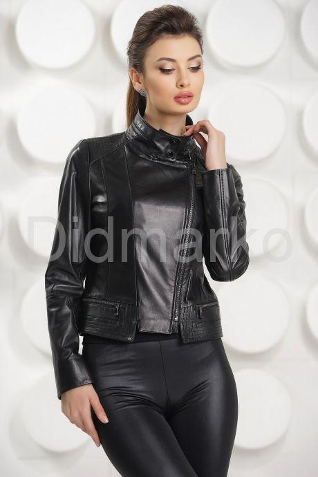 Короткая кожаная курточка. Фото 2.