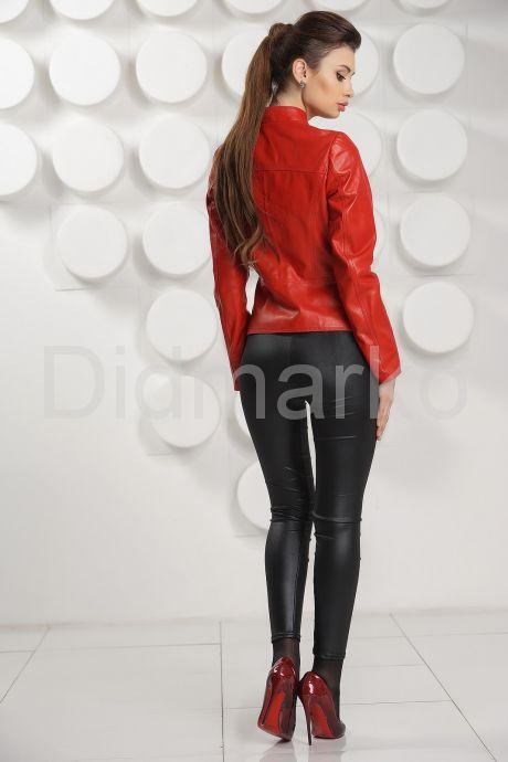 Красная кожаная курточка. Фото 4.