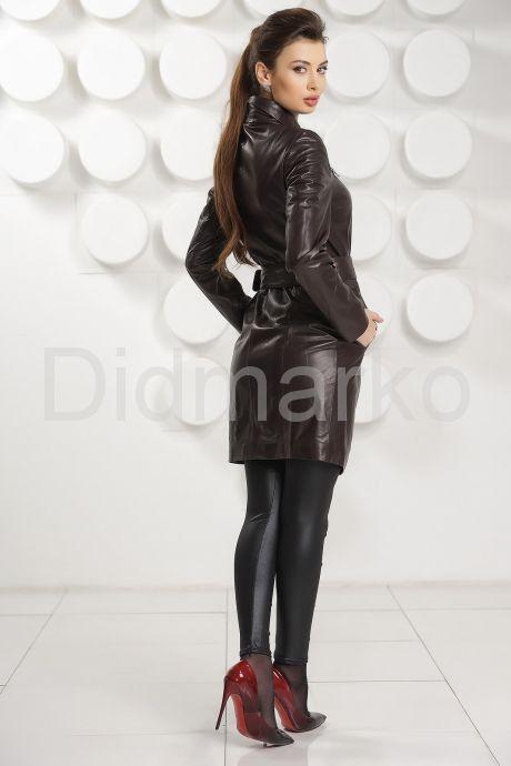 Кожаный плащ коричневого цвета. Фото 3.