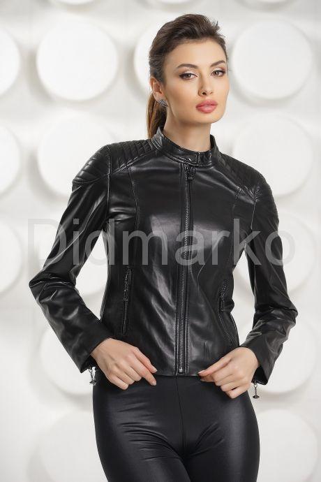 Силуэтная кожаная куртка. Фото 2.