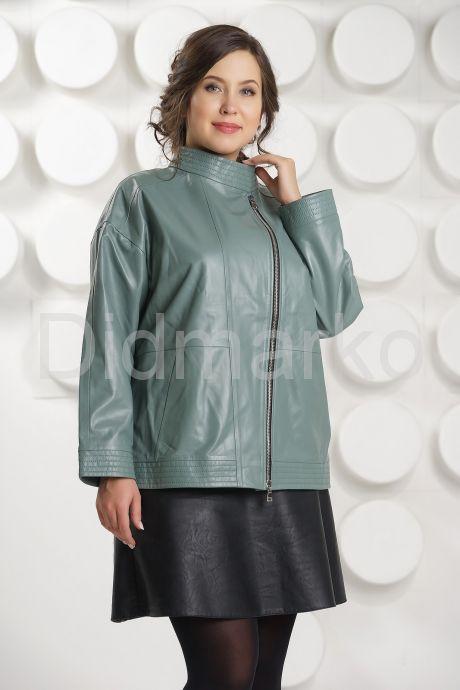 Кожаная куртка больших размеров evergeery. Фото 2.