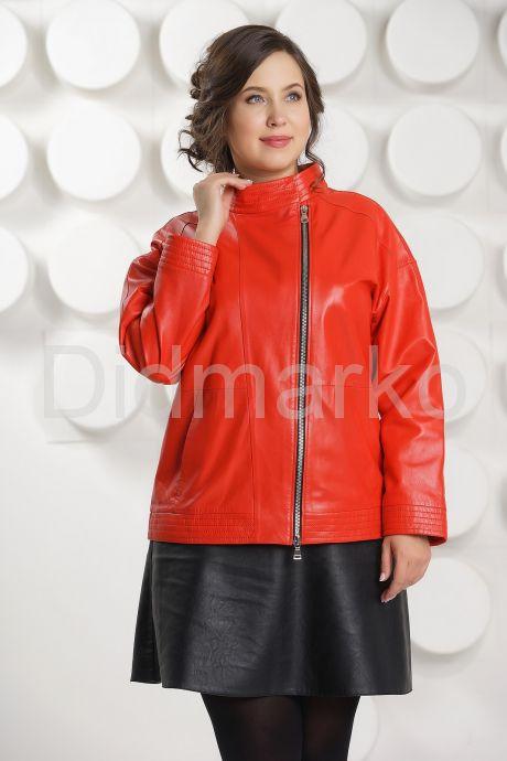 Кожаная куртка цвета гранатового цветка. Фото 2.