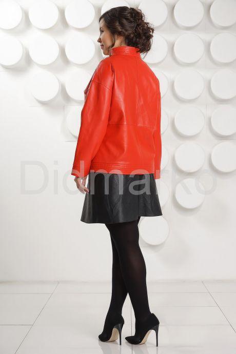 Кожаная куртка цвета гранатового цветка. Фото 4.