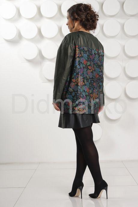 Кожаная куртка с принтом. Фото 4.