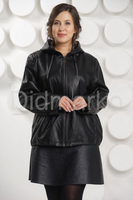 Кожаная куртка с капюшоном Milan. Фото 3.