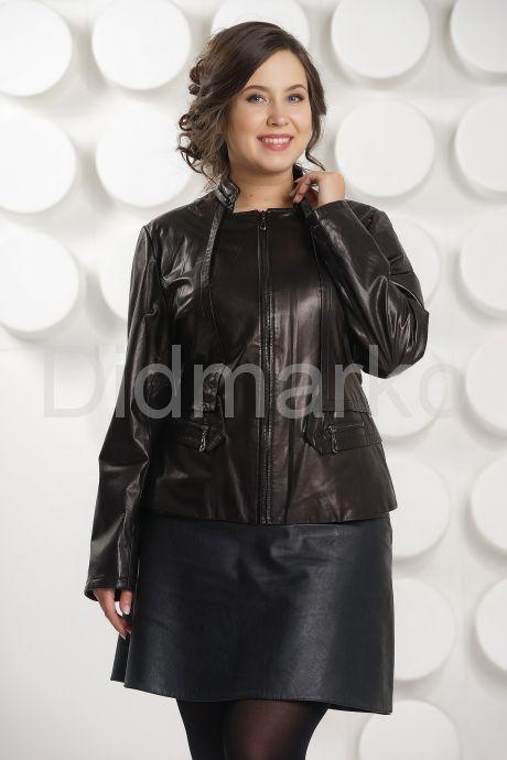 Кожаная куртка- пиджак. Фото 3.
