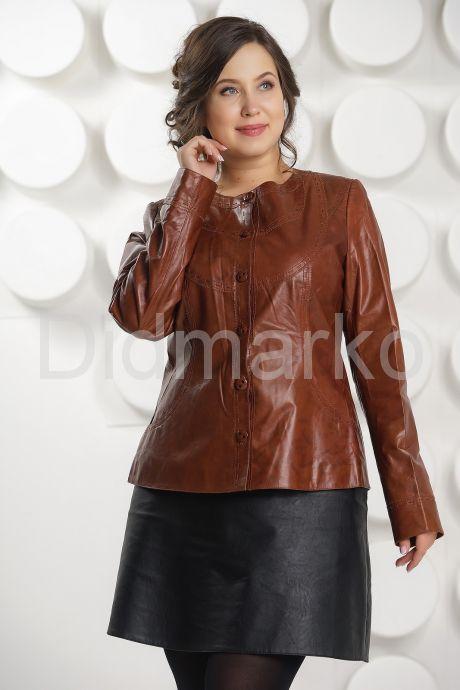 Кожаная куртка коричневого цвета. Фото 3.