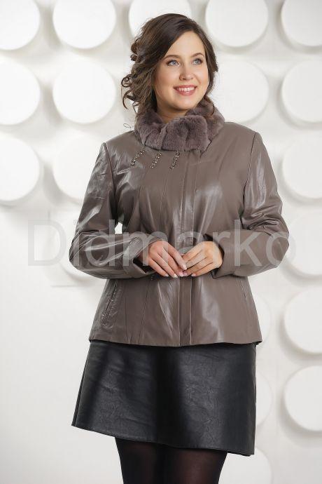 Женская кожаная куртка с мехом рекс. Фото 2.