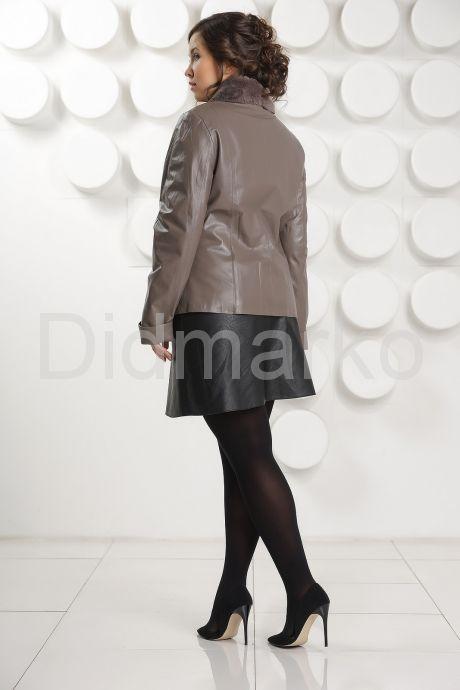 Женская кожаная куртка с мехом рекс. Фото 4.