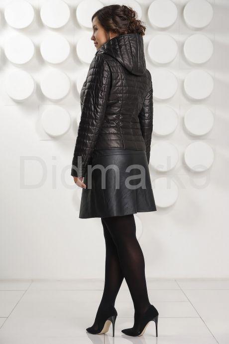 Утепленная кожаная куртка. Фото 4.