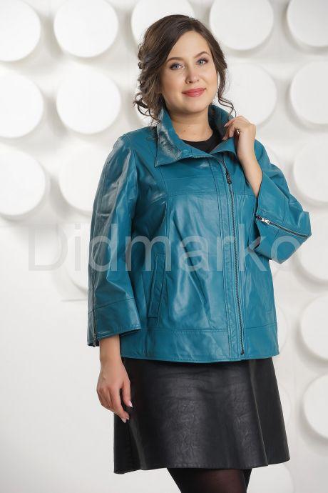 Весенняя кожаная куртка больших размеров DM. Фото 3.