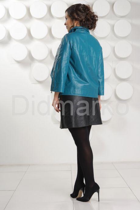 Весенняя кожаная куртка больших размеров DM. Фото 4.