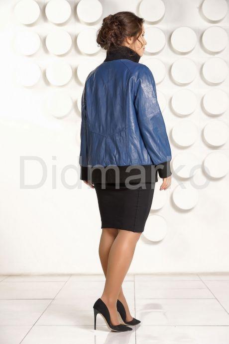 Кожаная куртка больших размеров на резинке. Фото 4.