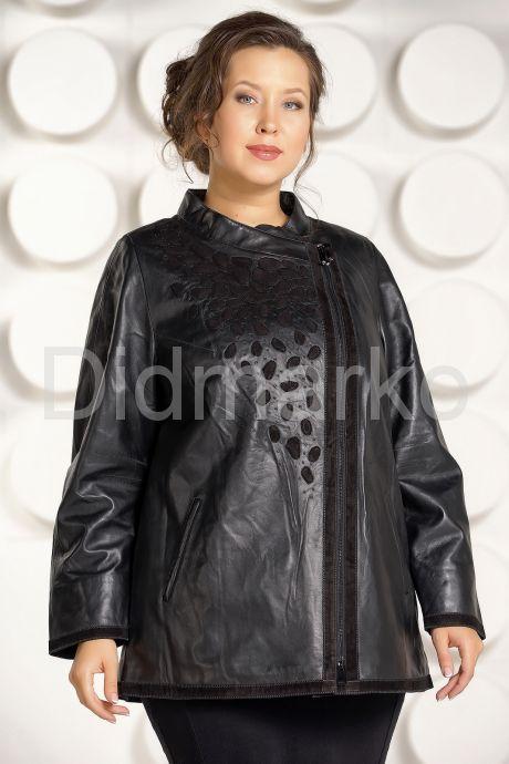 Красивая кожаная куртка для женщин. Фото 2.