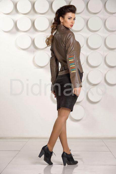 Кожаная куртка карамельного цвета. Фото 4.