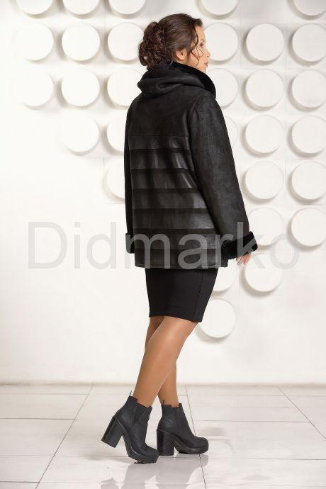 Женская дубленка на молнии с принтом. Фото 4.
