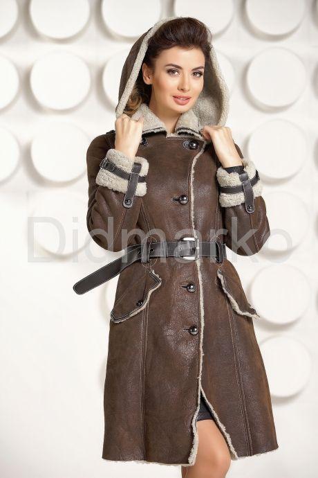 Женская дубленка м мехо керли. Фото 3.