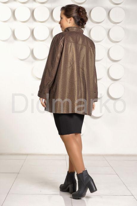 Кожаная куртка больших размеров с оригинальным воротом. Фото 4.