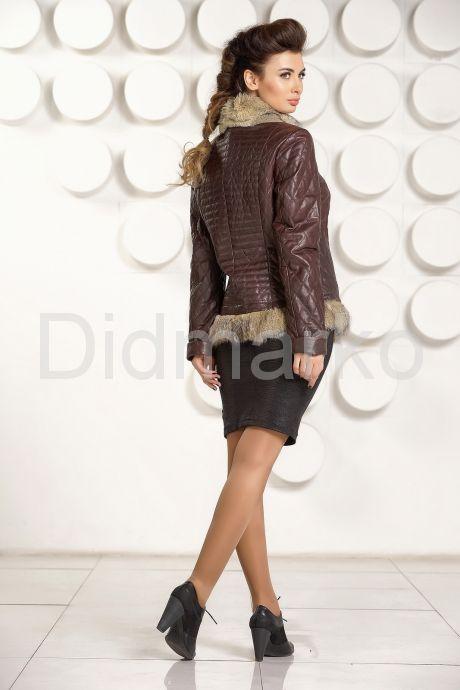 Кожаная куртка с мехом DMG58. Фото 4.
