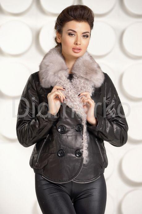 Кожаная демисезонная куртка. Фото 2.