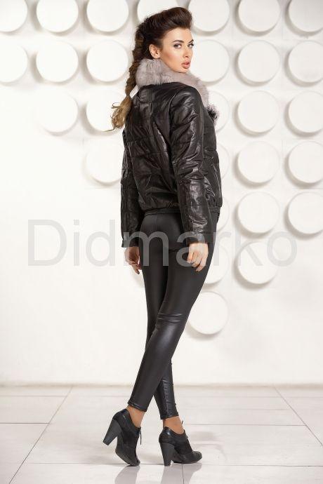 Кожаная демисезонная куртка. Фото 4.